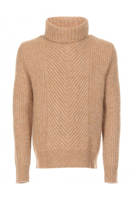 WOOLRICH WOMAG1805 734CAMEL MAGLIONI
