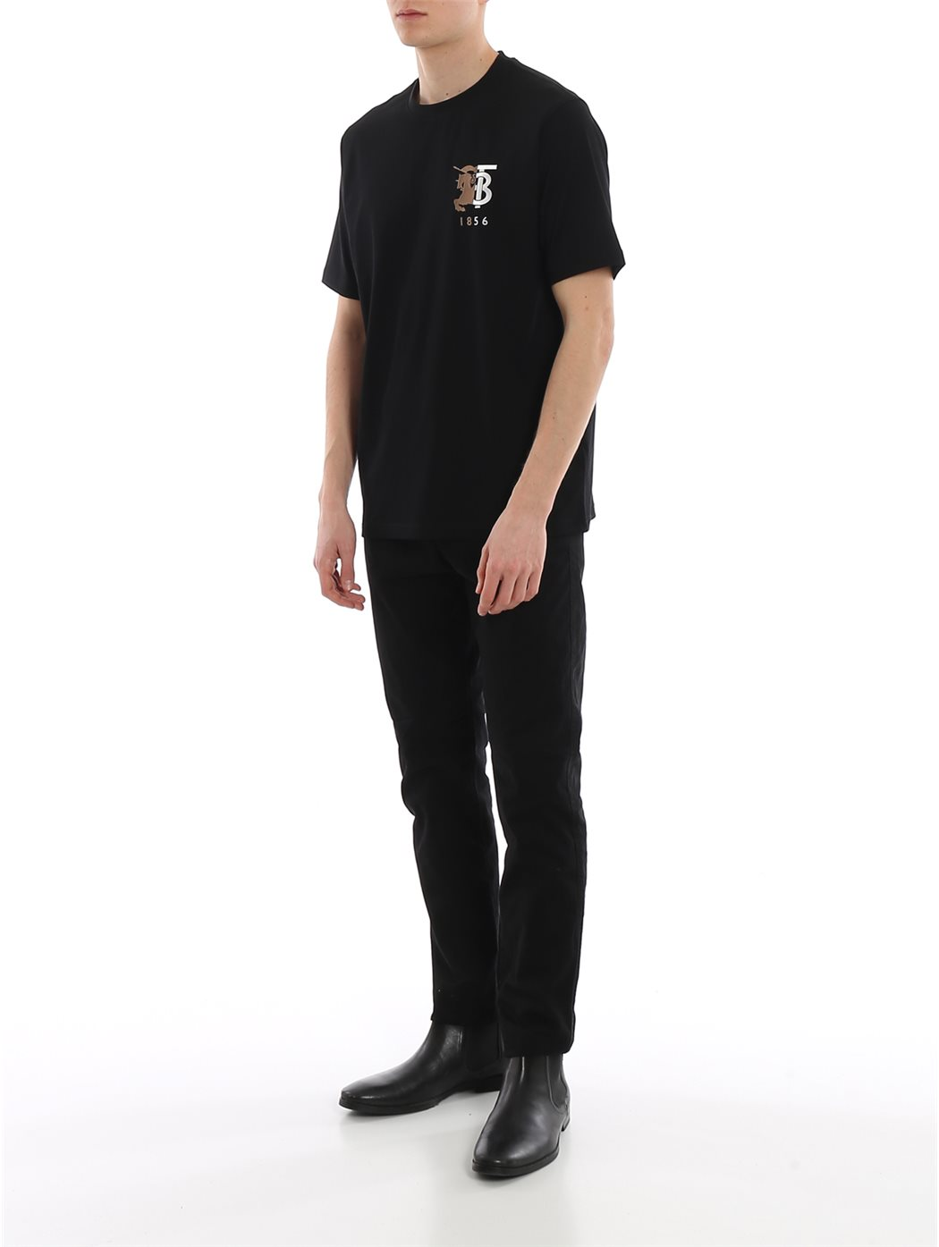 BURBERRY 8023785 Black T-SHIRT