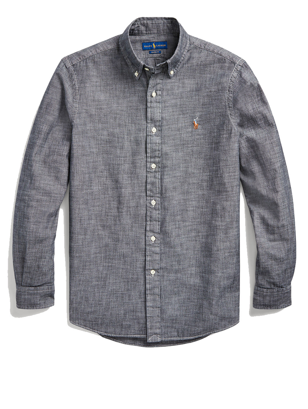 Camicia in chambray Slim-Fit 71079 003