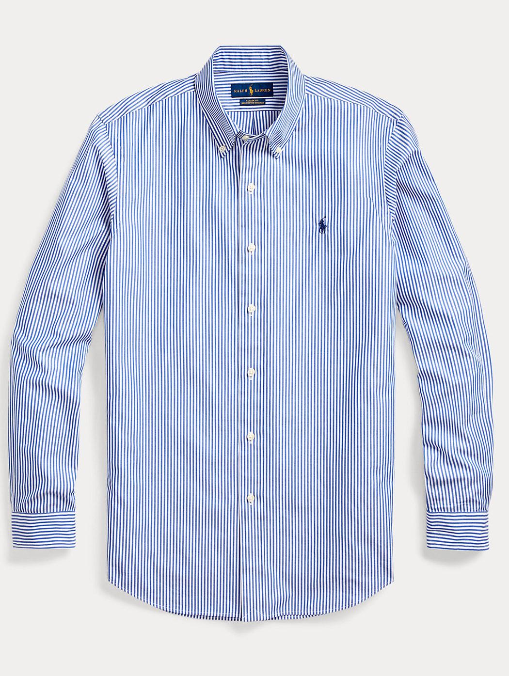 Camicia in popeline a righe Slim-Fit 71078 008