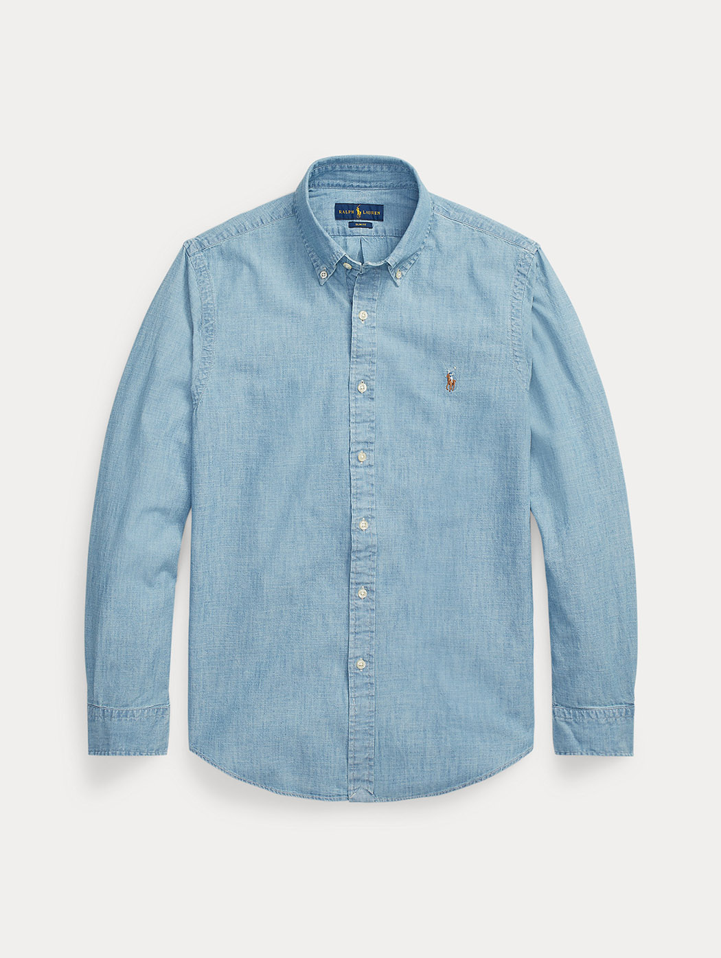 Camicia in chambray indaco Slim Fit 71079
