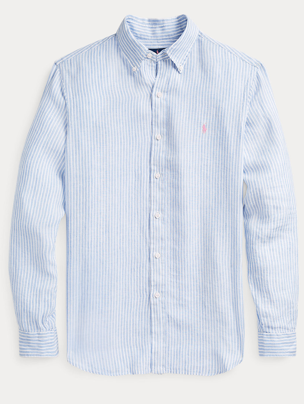 Camicia in lino a righe Slim-Fit 71078