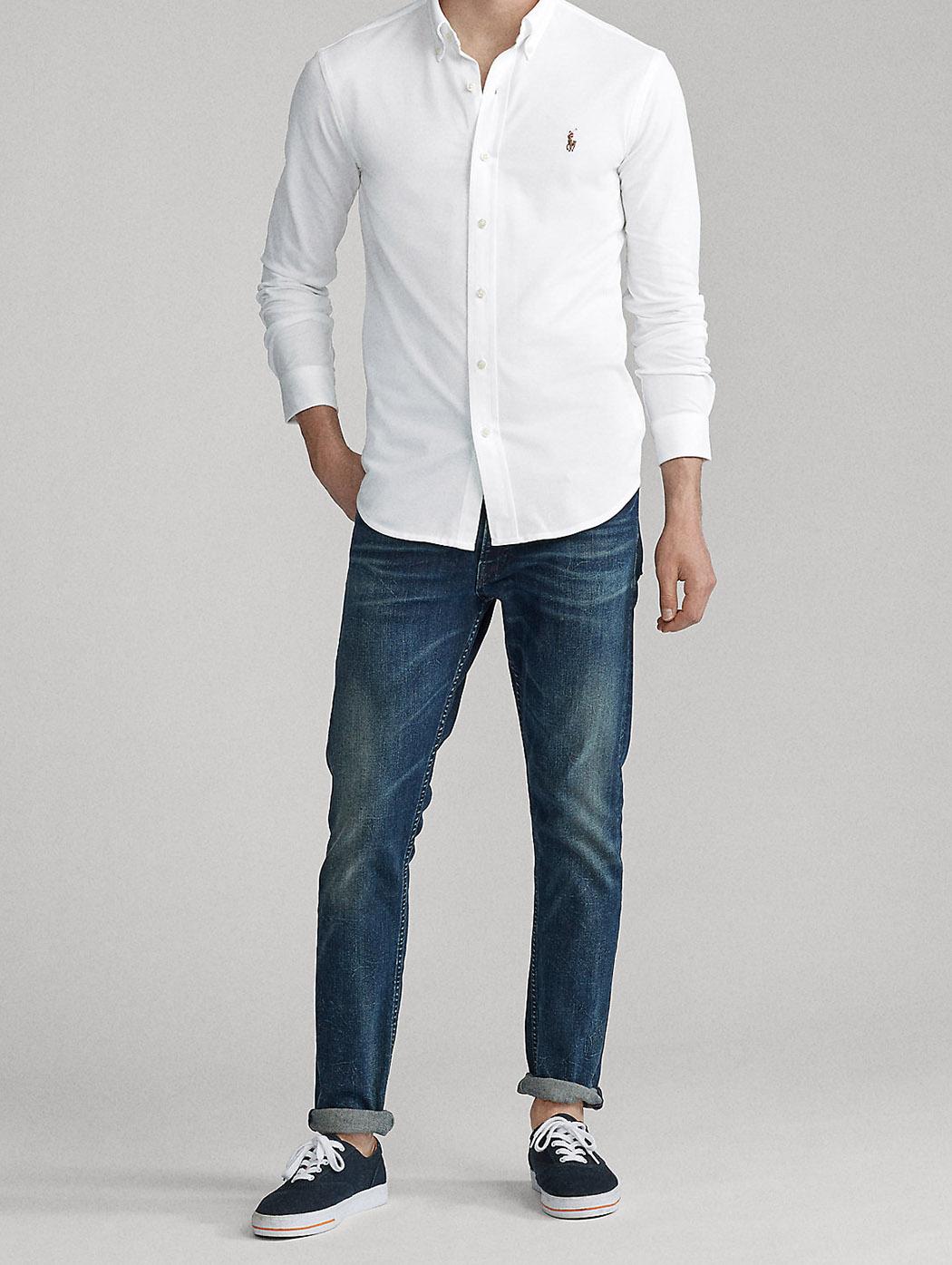 Camicia Oxford in maglia 71072