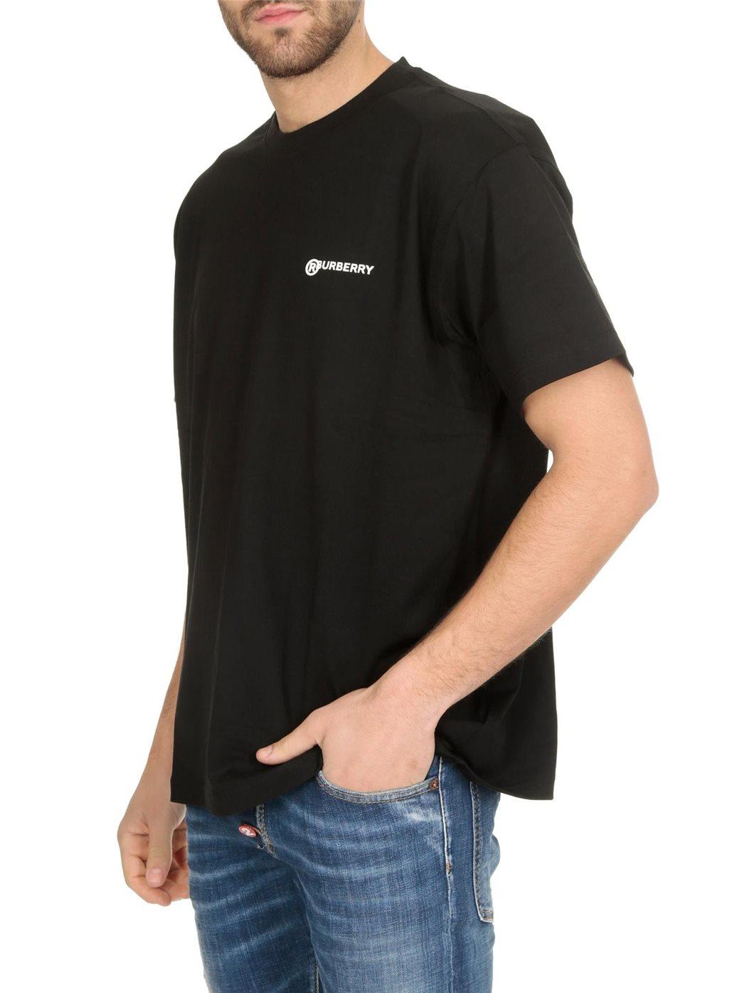 BURBERRY 8025657 Black T-SHIRT