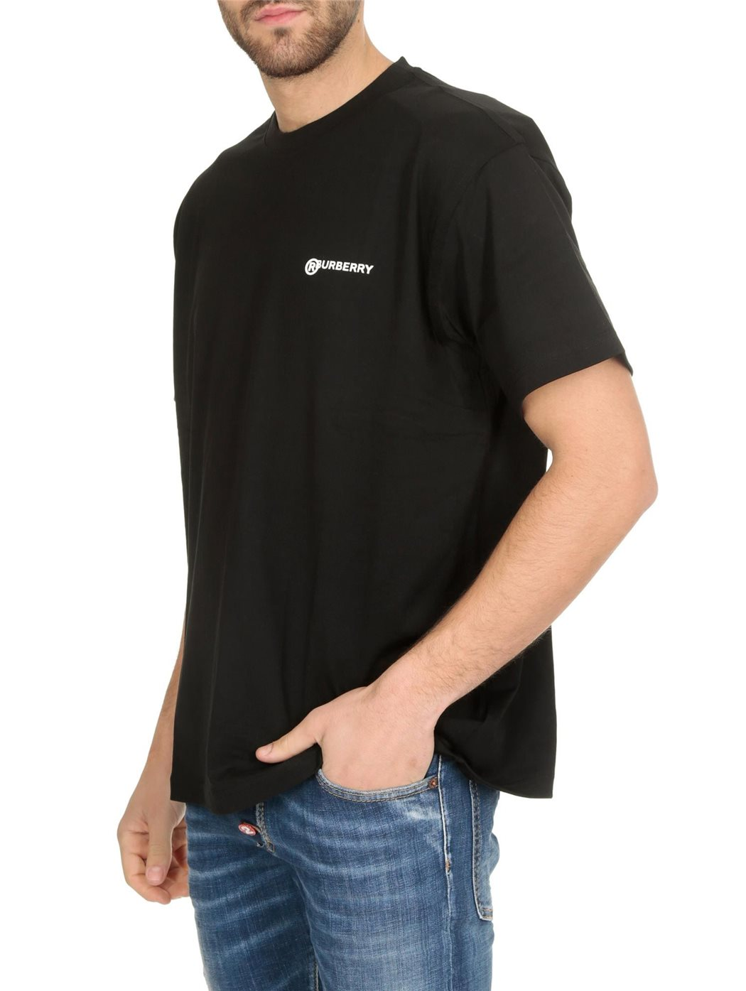 BURBERRY 8025657 Black T-SHIRT