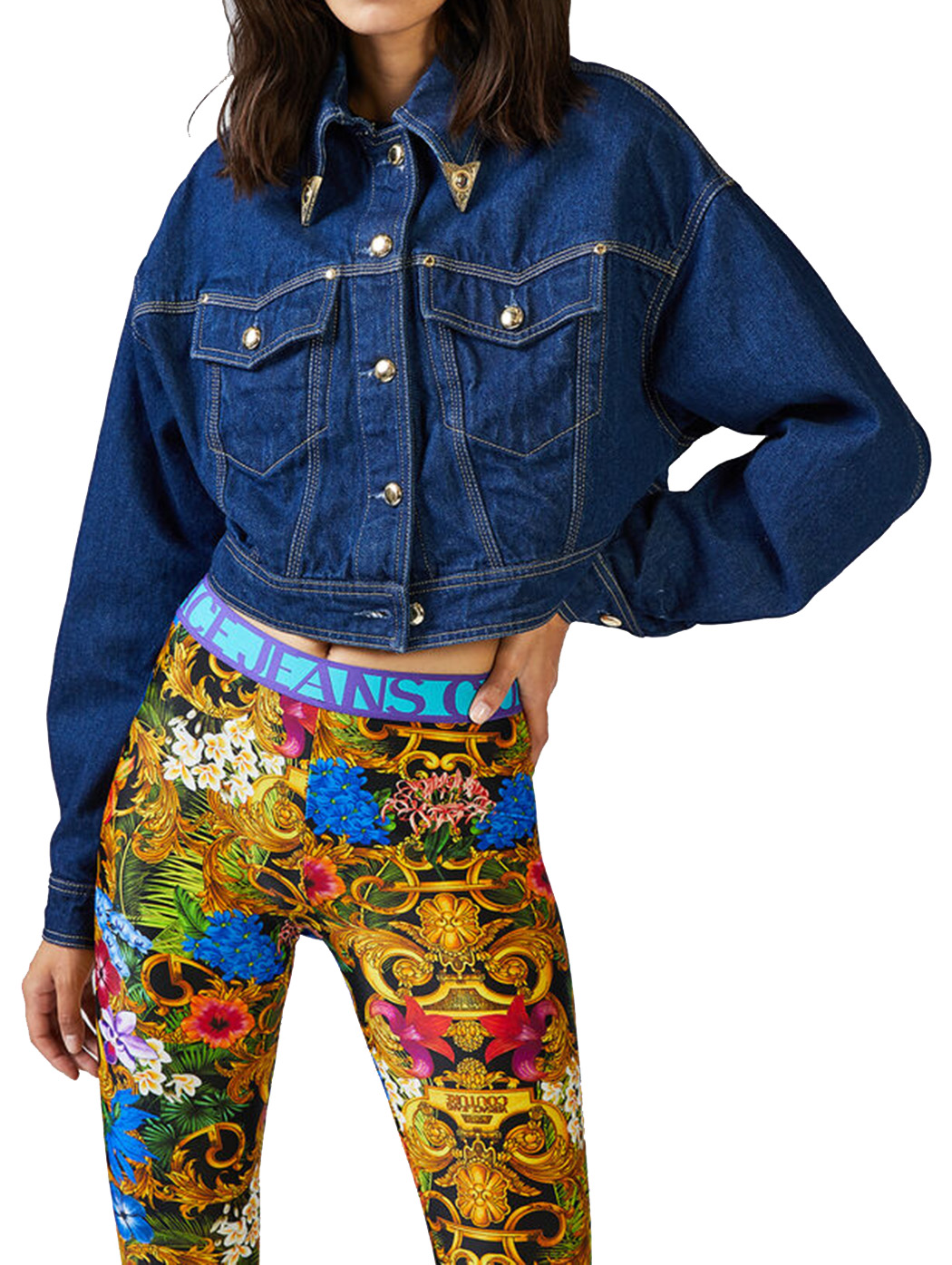 VERSACE GIACCA JEANS CORTA