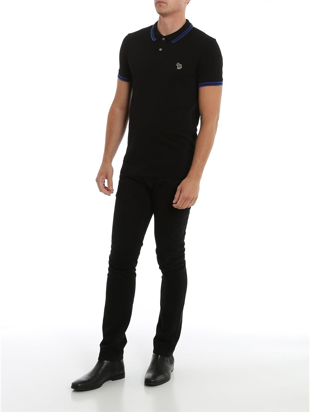 PAUL SMITH M2R-534LZ 79-BLACK POLO