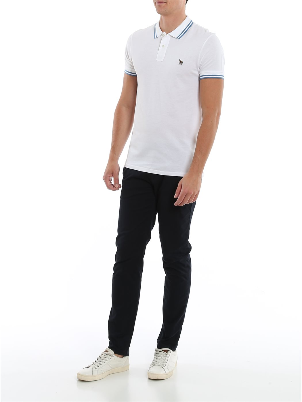 PAUL SMITH M2R-534LZ 01-WHITE POLO