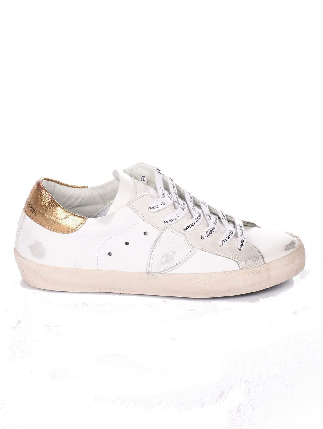 PHILIPPE MODEL CLLD METAL/BLAN SNEAKERS