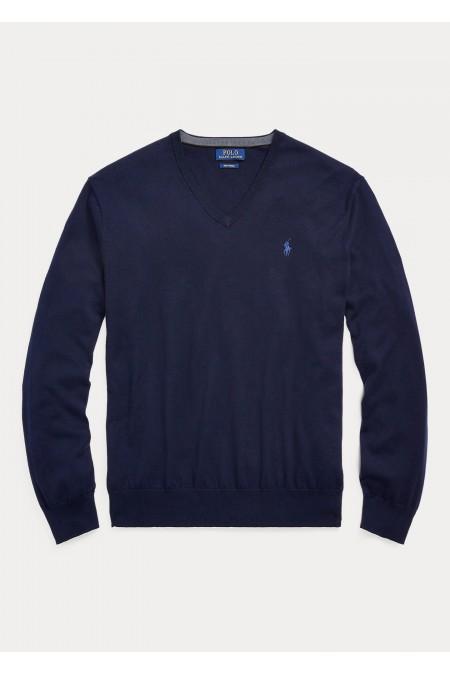 Maglia in lana merino con scollo a V POLO RALPH LAUREN UOMO 710667377 002
