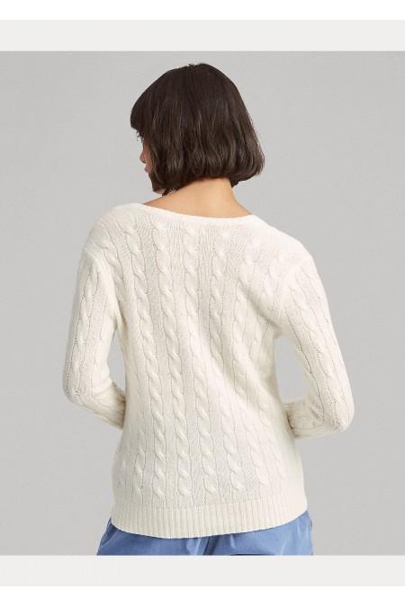 Maglia in lana e cashmere a trecce POLO RALPH LAUREN DONNA 211508656 015