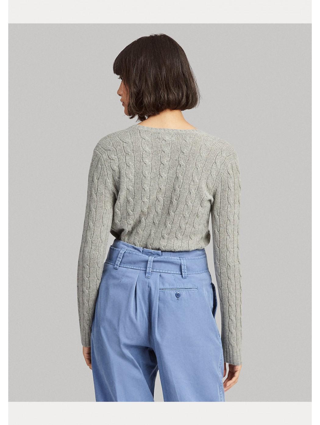 Maglia in lana e cashmere a trecce POLO RALPH LAUREN DONNA 211508656 016