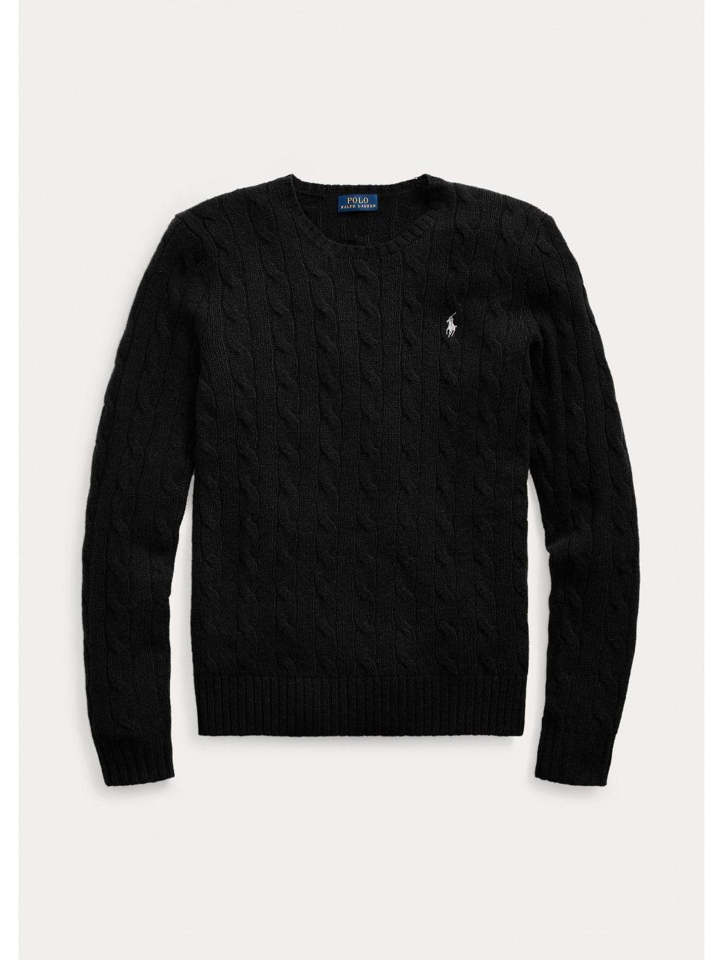Maglia in lana a girocollo a trecce POLO RALPH LAUREN DONNA 211525764 002