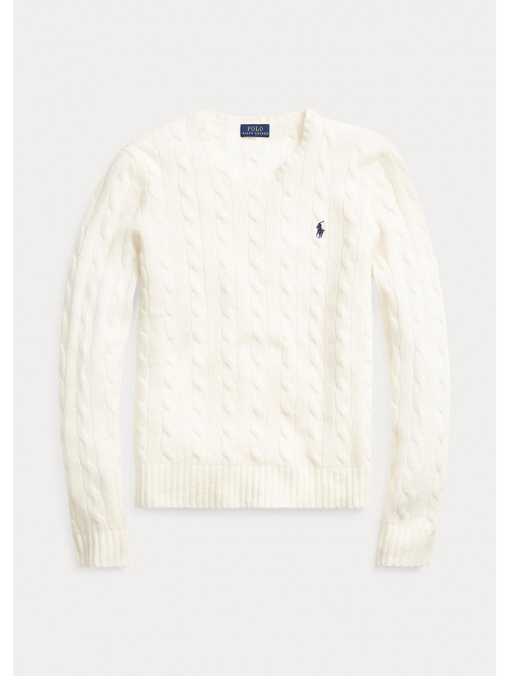 Maglia in lana a girocollo a trecce POLO RALPH LAUREN DONNA 211525764 003