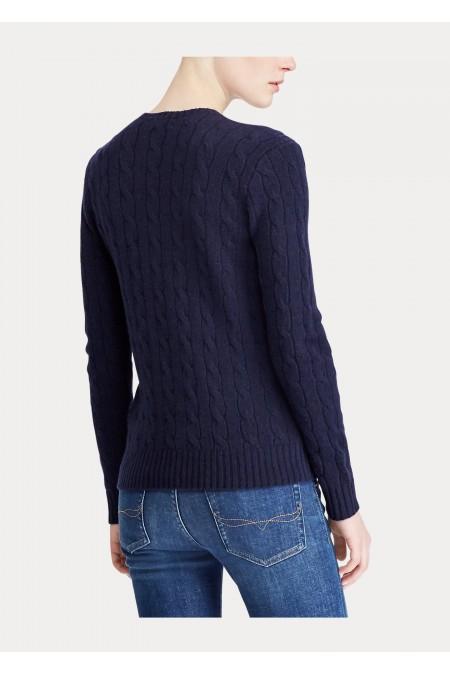 Maglia in lana a girocollo a trecce POLO RALPH LAUREN DONNA 211525764 008