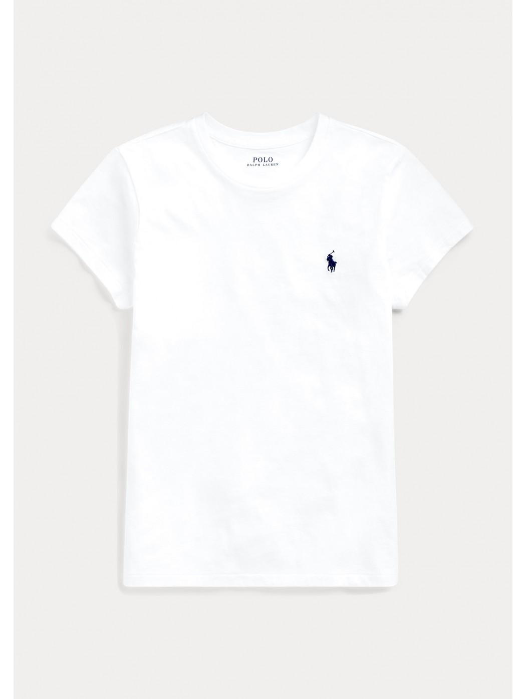 Maglietta a girocollo in cotone POLO RALPH LAUREN DONNA 211734144 001