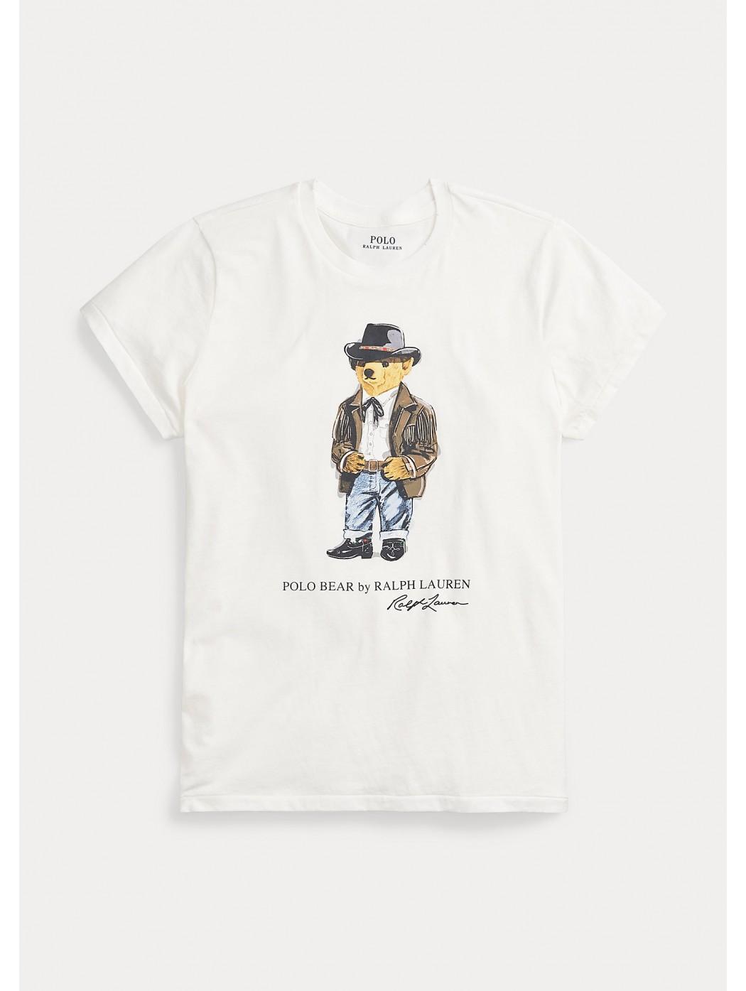 Maglietta girocollo Polo Bear POLO RALPH LAUREN DONNA 211800341 001