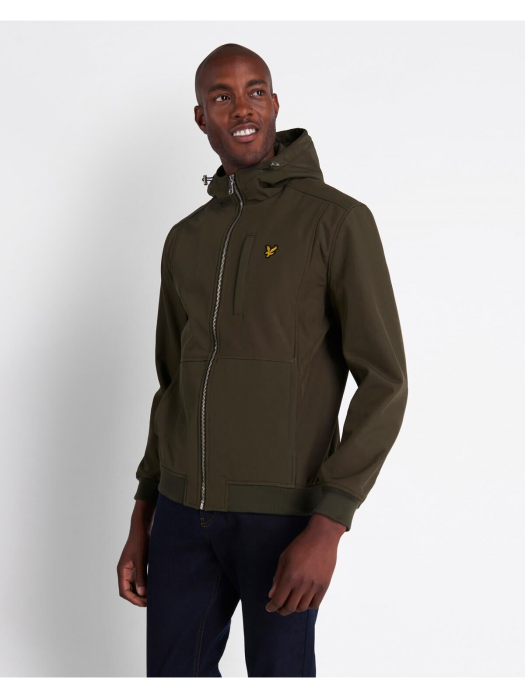 SOFTSHELL JACKET TREK GREEN LYLE & SCOTT JK1214V W123