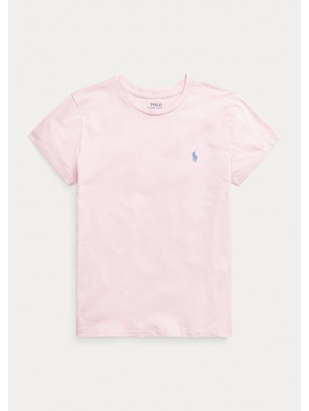 Maglietta a girocollo in jersey di cotone POLO RALPH LAUREN DONNA 211734144 033