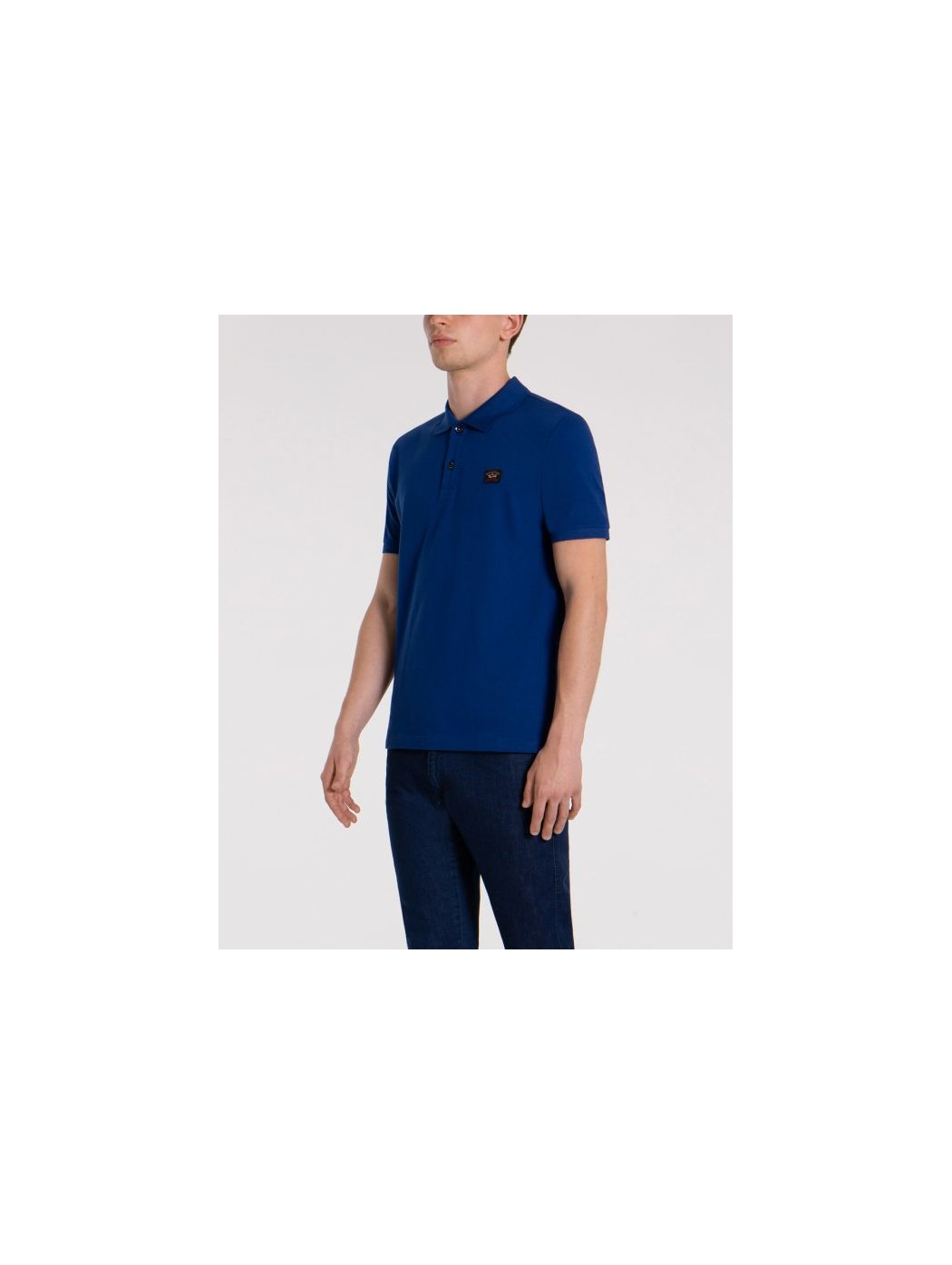 POLO BASE COTONE BLU ROYAL...