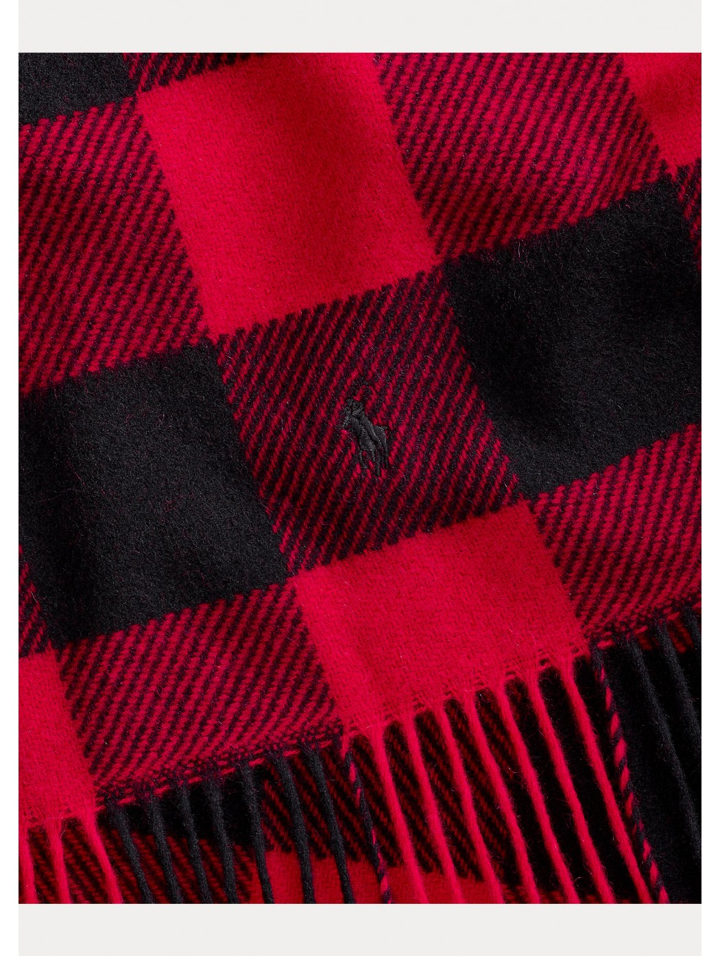 Sciarpa scozzese in lana con frange POLO RALPH LAUREN UOMO 455823065 002
