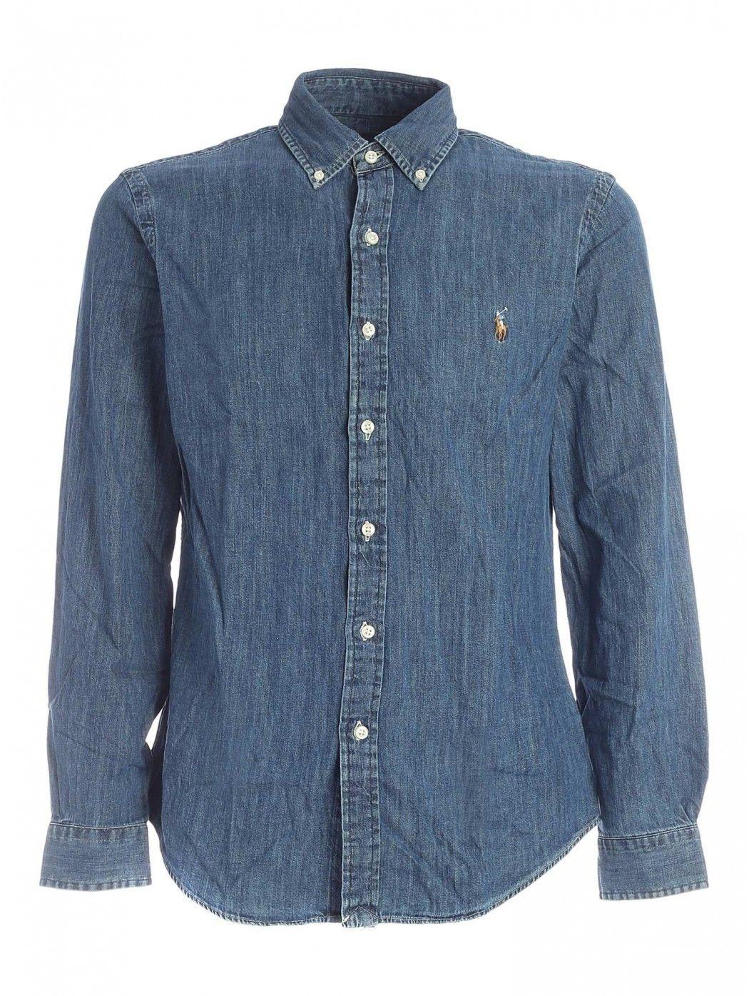 Camicia sportiva in denim Slim-Fit POLO RALPH LAUREN UOMO 710548539 001