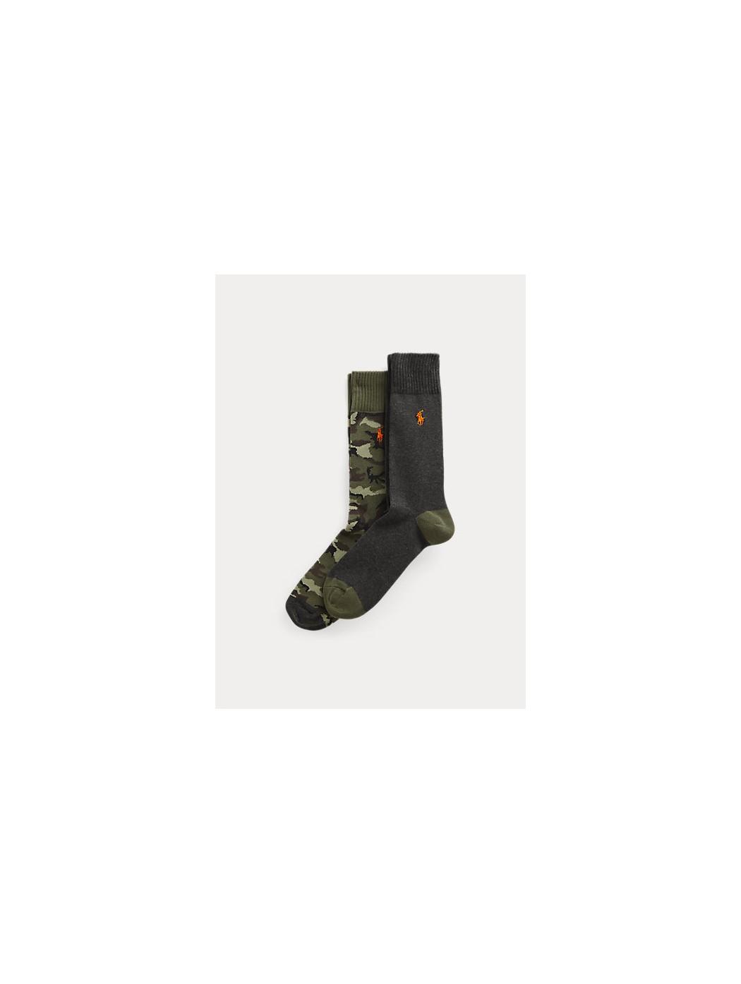 Due paia di calze camouflage/tinta unita POLO RALPH LAUREN UOMO 449823343 001