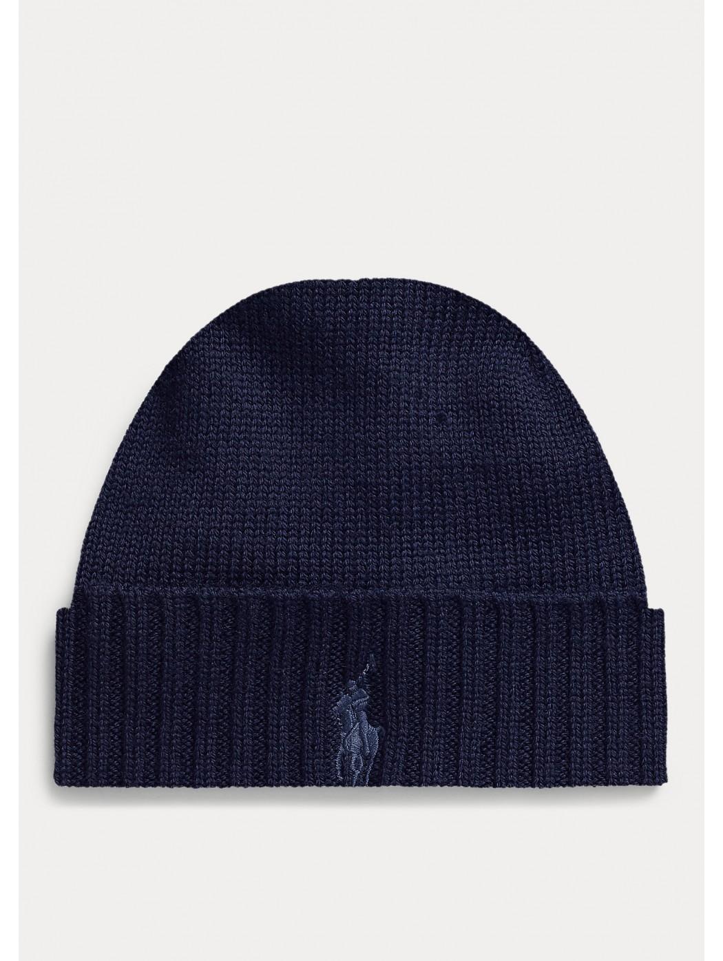 Cappellino in lana con esclusivo pony POLO RALPH LAUREN UOMO 710761415 002