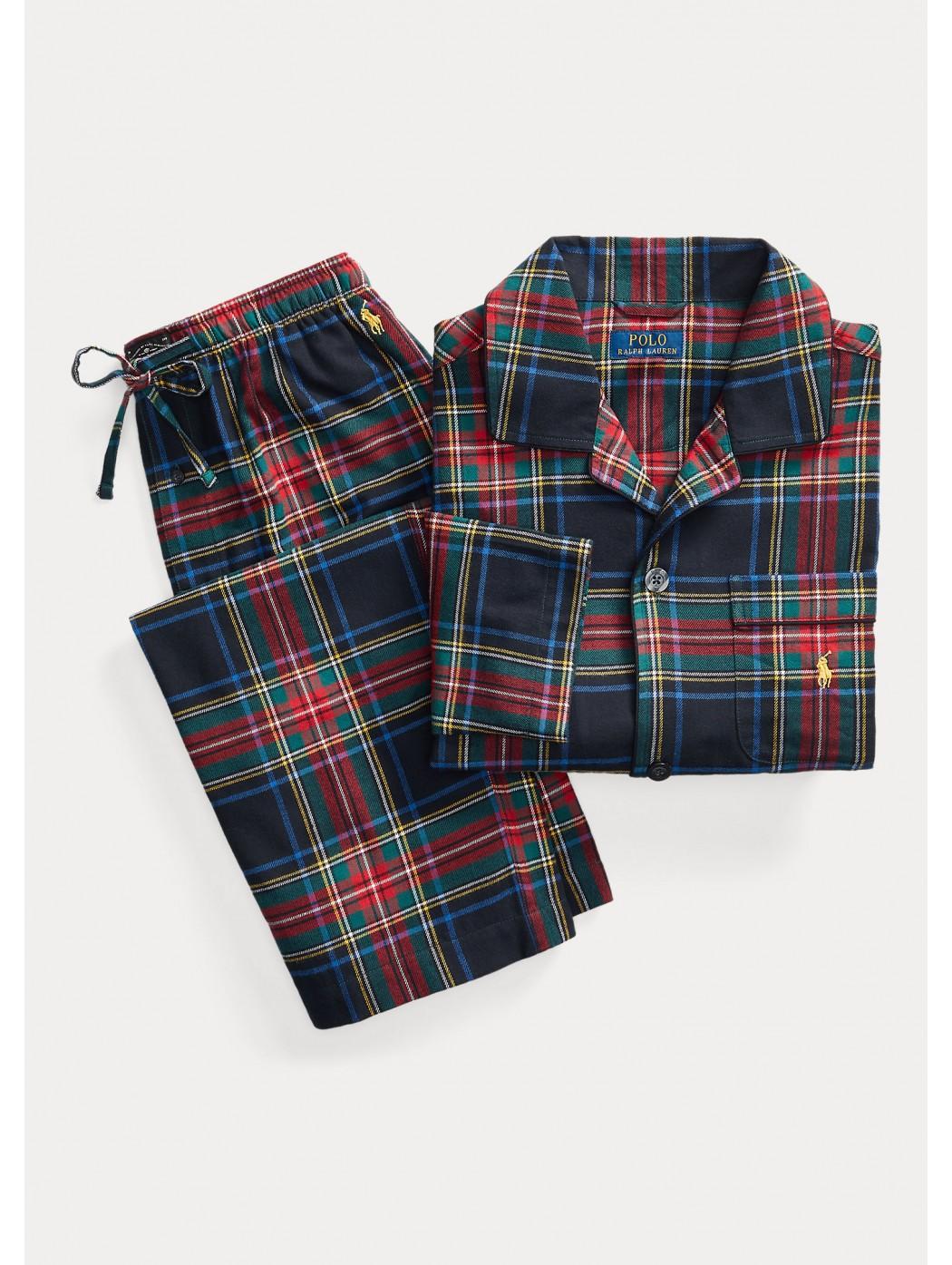 Pigiama scozzese in flanella POLO RALPH LAUREN UOMO 714754038 002