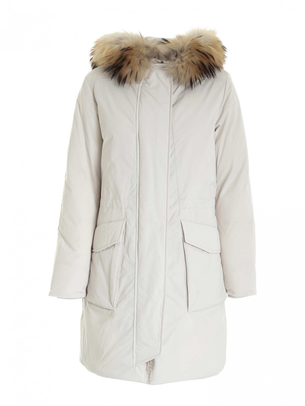 Military Parka in racoon fur
