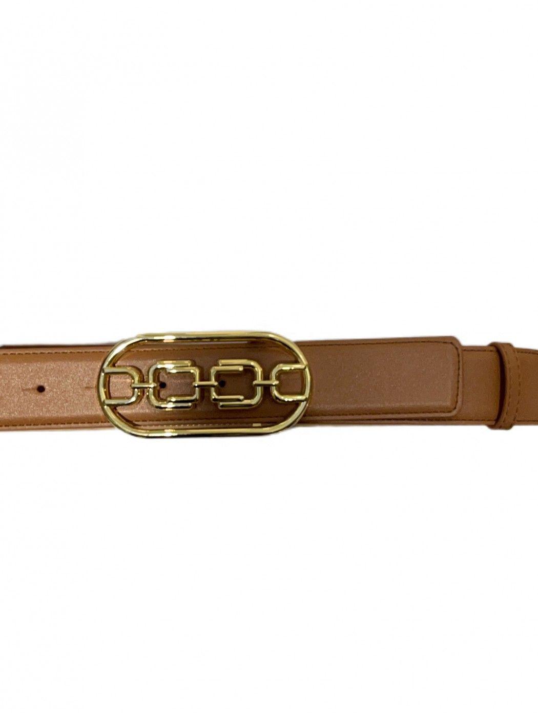 Cintura vita alta con logo light gold Elisabetta F ELISABETTA  FRANCHI CT03S11E2 600