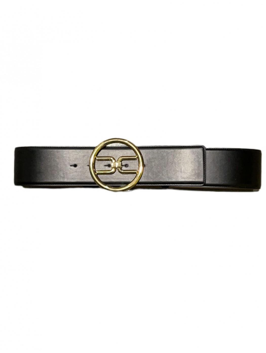 Cintura a vita alta con logo gold Elisabetta Franc ELISABETTA  FRANCHI CT11S11E2 110
