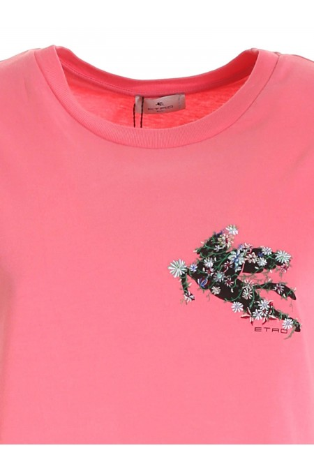 T-SHIRT FITTED JERSEY ETRO DONNA 145147957 0650