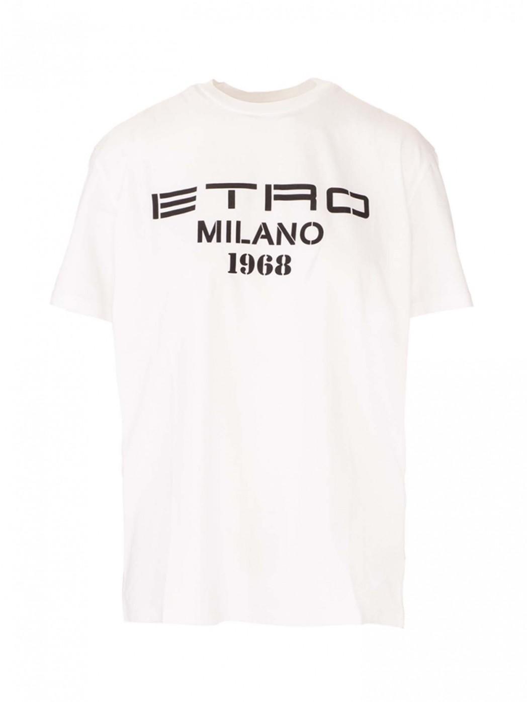 T-shirt logo bianca ETRO...