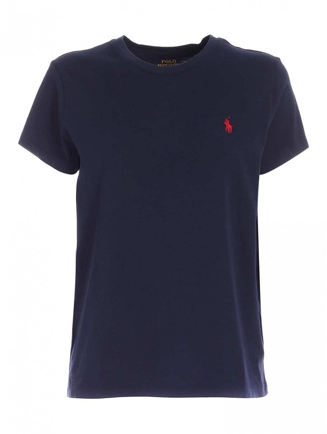 Maglietta a girocollo in cotone POLO RALPH LAUREN DONNA 211734144 024