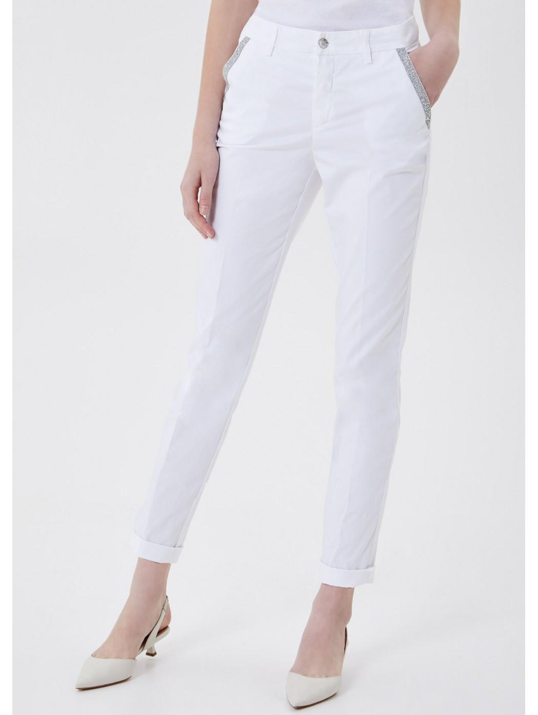 Pantalone chino con applicazioni LIUJO JEANS CORE WA1231T4810 11111