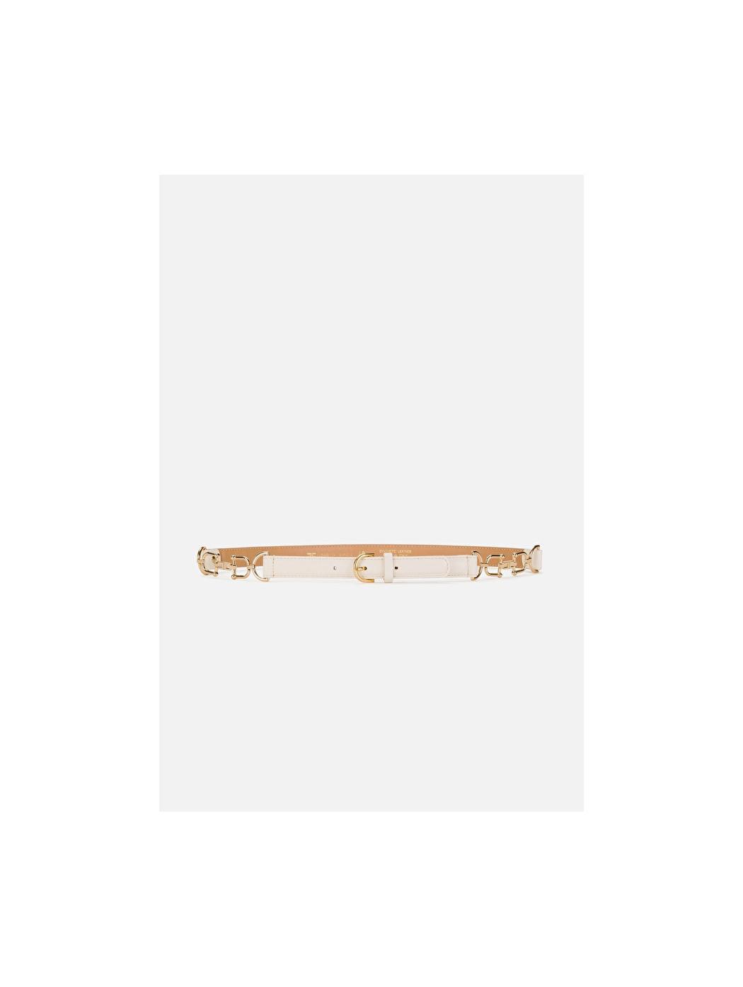 Cintura a vita alta con morsetti oro ELISABETTA  FRANCHI CT05S11E2 193