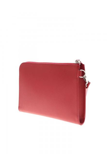 CLUTHC Bustina rossa con dettaglio logo MONTBLANC 126061