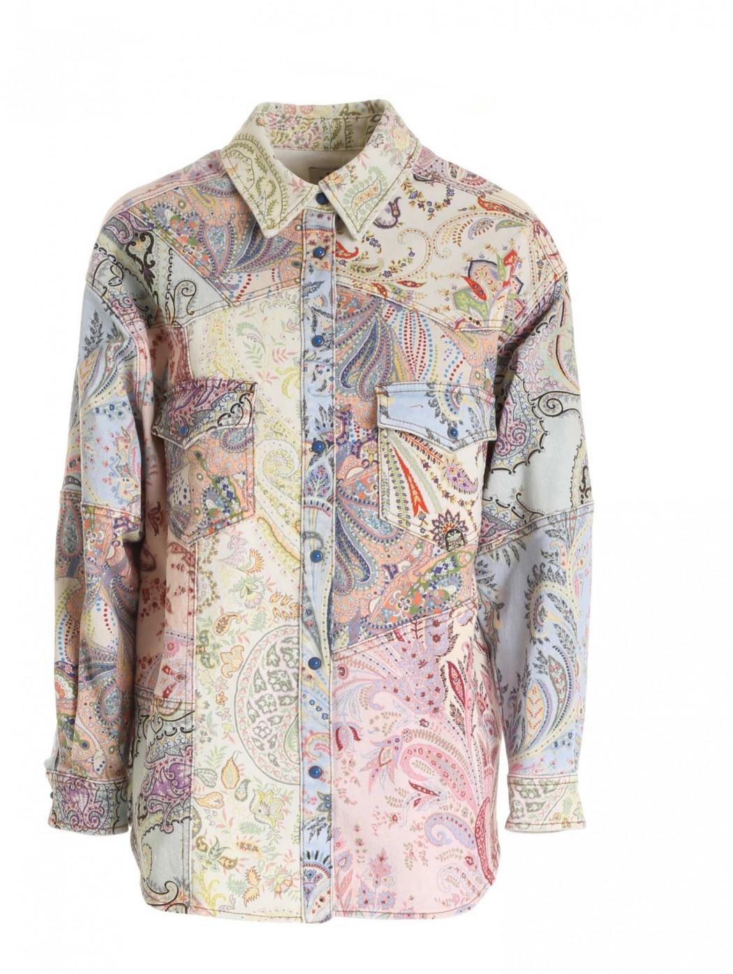 Giacca multicolor con stampa paisley ETRO DONNA 144649460 8000