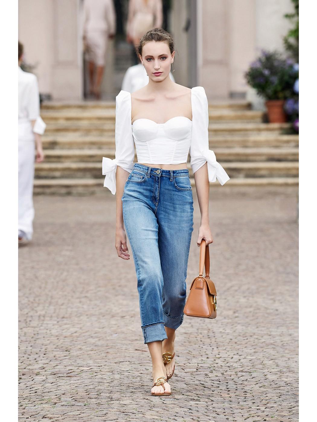 Jeans mom fit regular ELISABETTA  FRANCHI PJ05I11E2 192