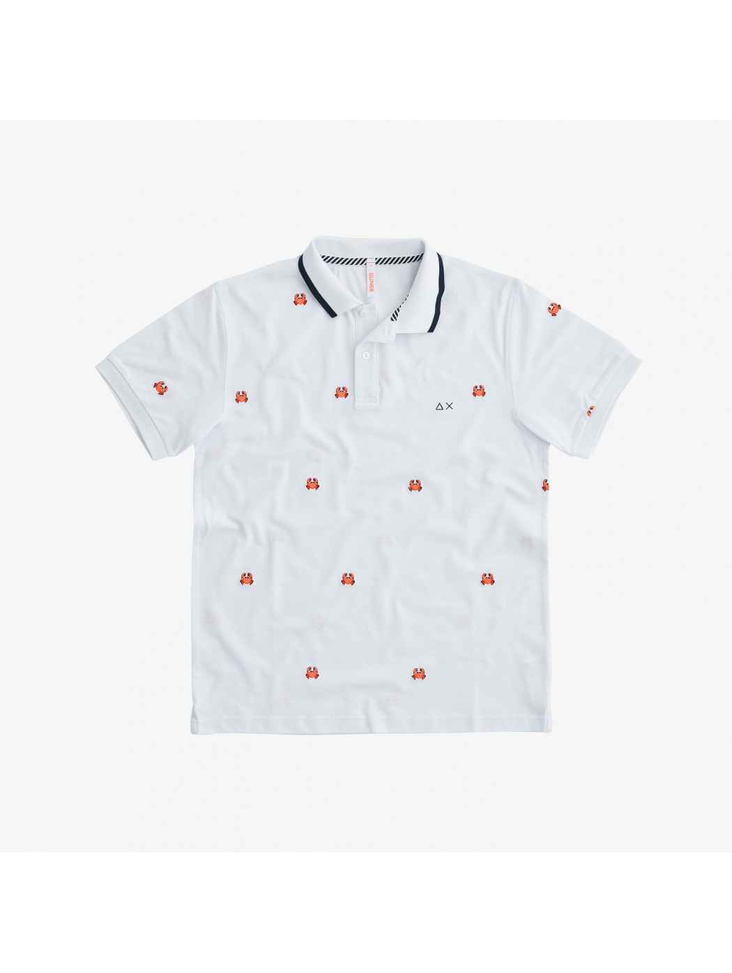 POLO FULL EMBRODERY EL SUN68 A31126 01