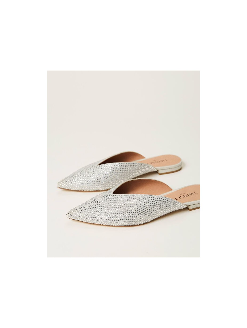 Scarpe slippers con strass TWINSET 211TCT090 06006