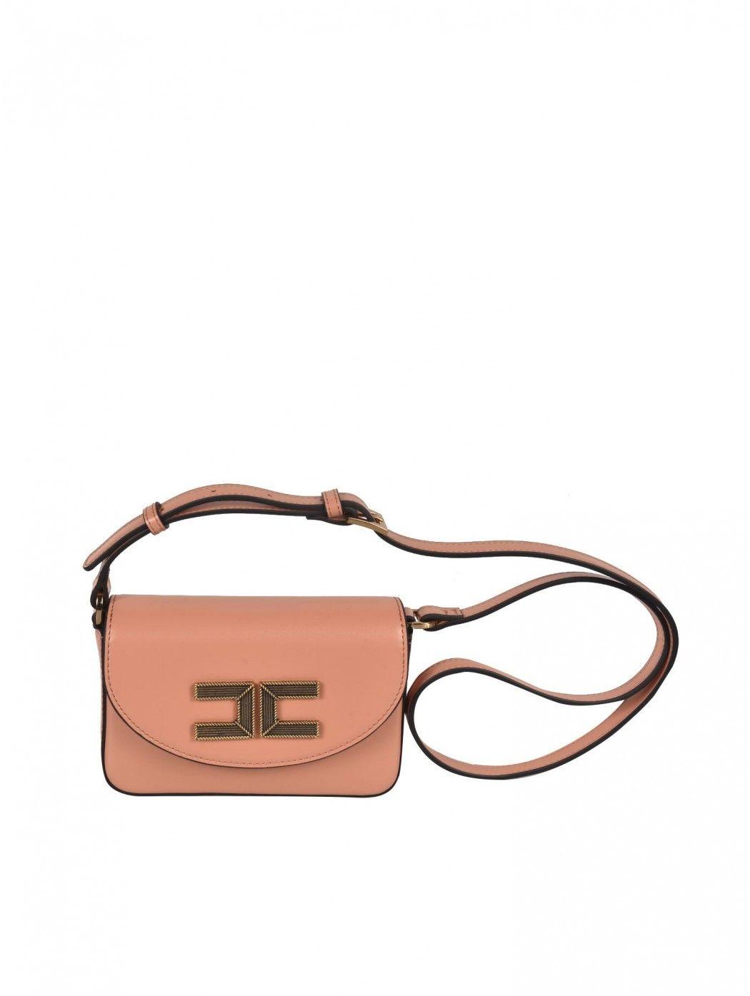 Box bag a tracolla con logo Elisabetta Franchi ELISABETTA  FRANCHI BS15A11E2 K14