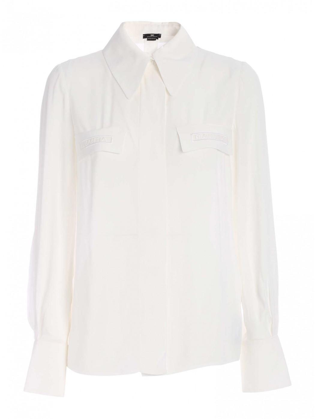 Camicia con ricamo in organza ELISABETTA  FRANCHI CA28111E2 360