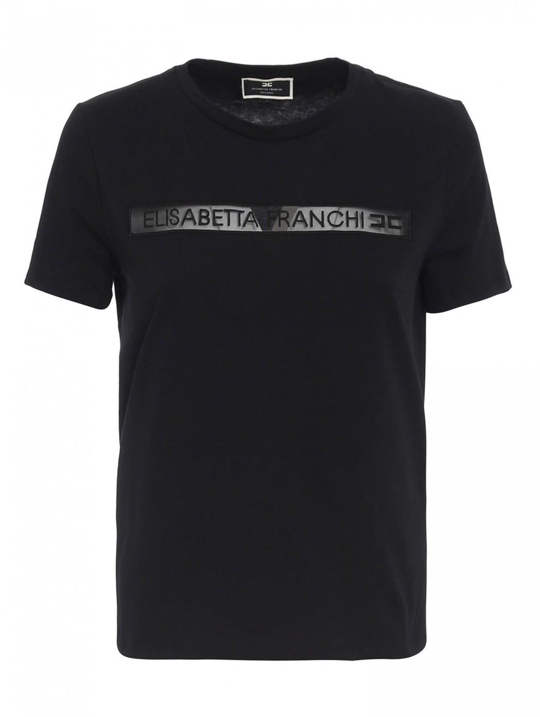 T-shirt Elisabetta Franchi con stampa ELISABETTA  FRANCHI MA18411E2 110