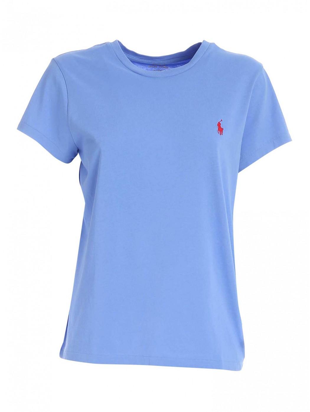 Maglietta a girocollo in cotone POLO RALPH LAUREN DONNA 211734144 043