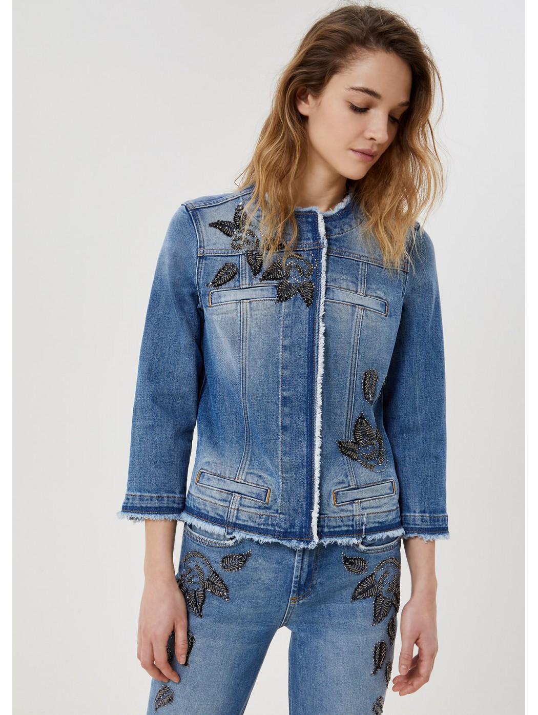 Giacca di jeans con applicazioni LIUJO JEANS CORE UA1033D4598 78151