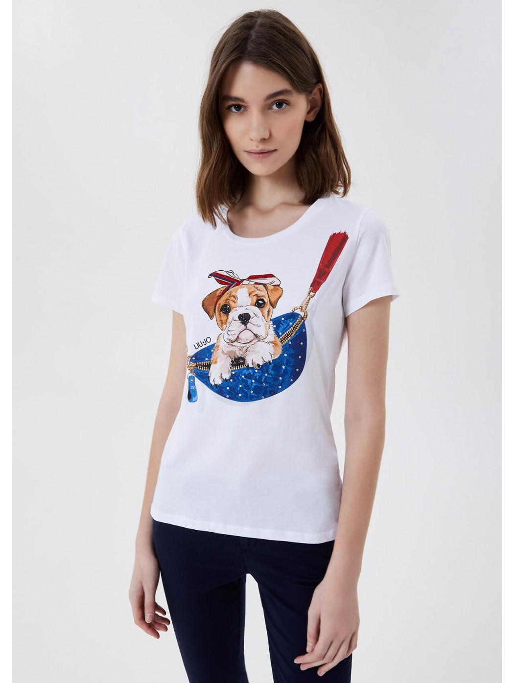 T-shirt con stampa LIUJO...