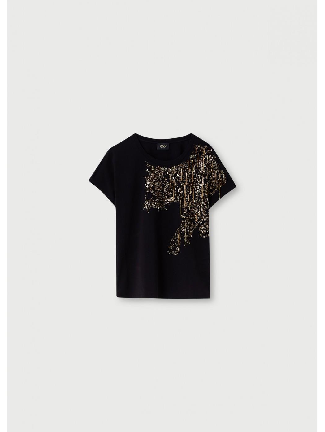 T-shirt con applicazioni...