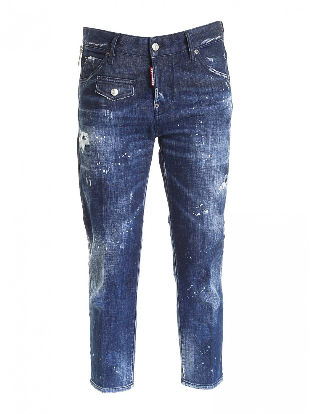JEANS COOL CROPPED DESTROYED BLU DSQUARED2 S75LB0438S30342 470